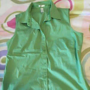 Old Navy Sleeveless Button-Down Shirt